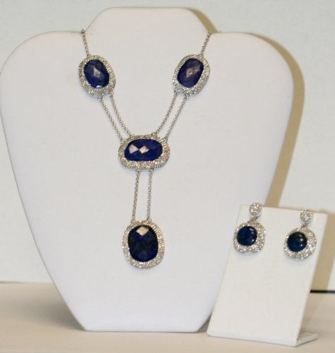 DESIGNER LARGE LAPIS NECKLACE