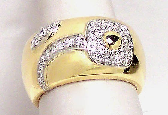 18k Yellow Gold .62ct Diamond Designer Chimento Ring