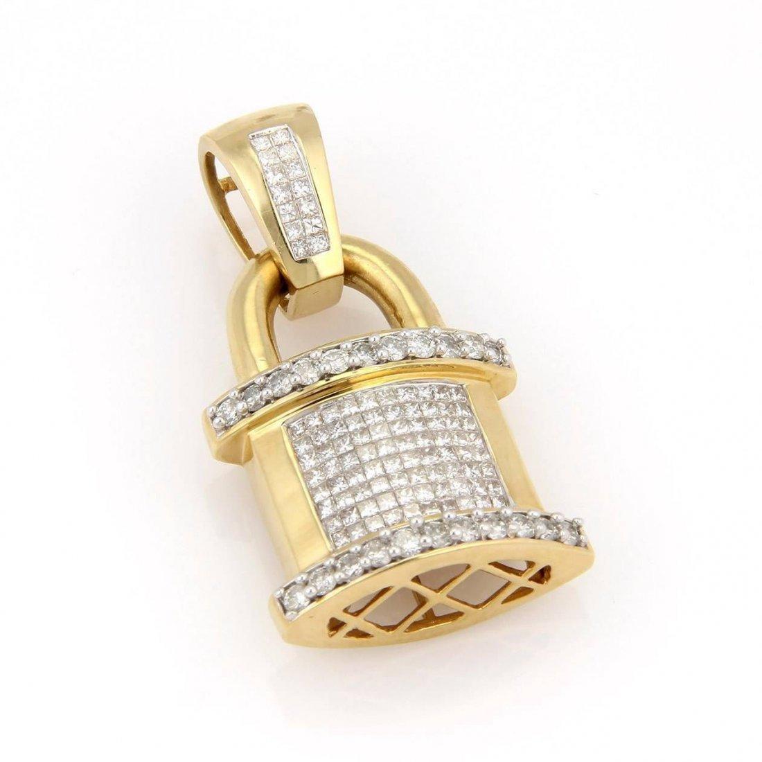 Estate 14K Yellow Gold 3.5ctw Invisible Set Diamond