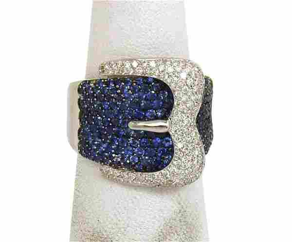 LAVISH 18K GOLD, SPARKLING DIAMONDS & VIBRANT BLUE
