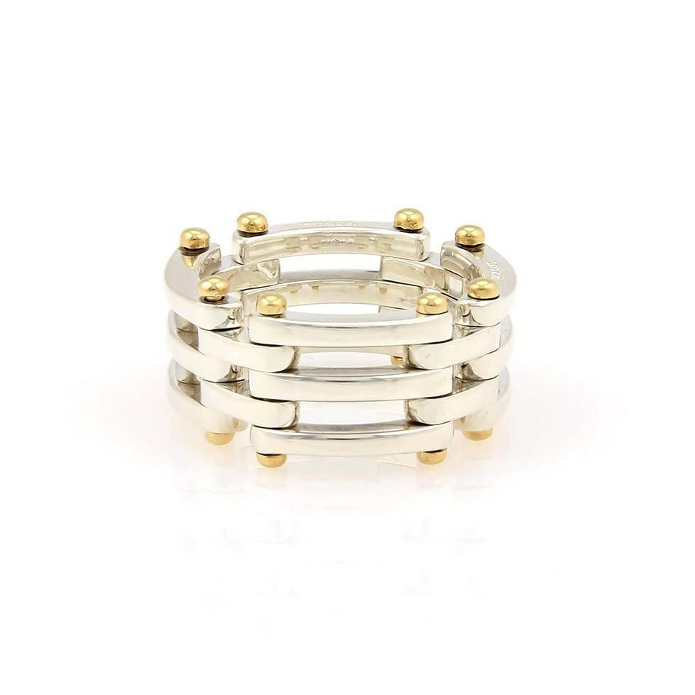 Tiffany & Co. Sterling Silver & 18K Yellow Gold