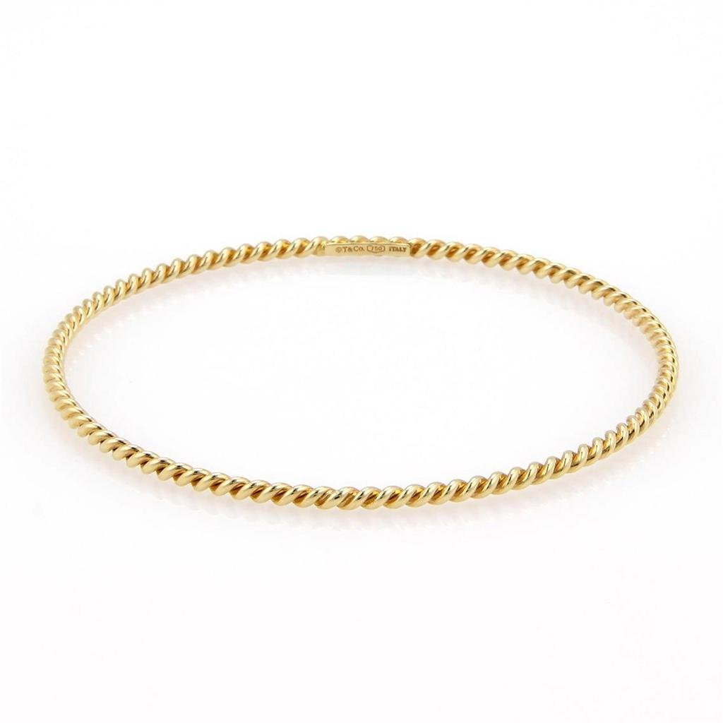 Tiffany & Co. Italy 18K Yellow Gold Twisted Cable