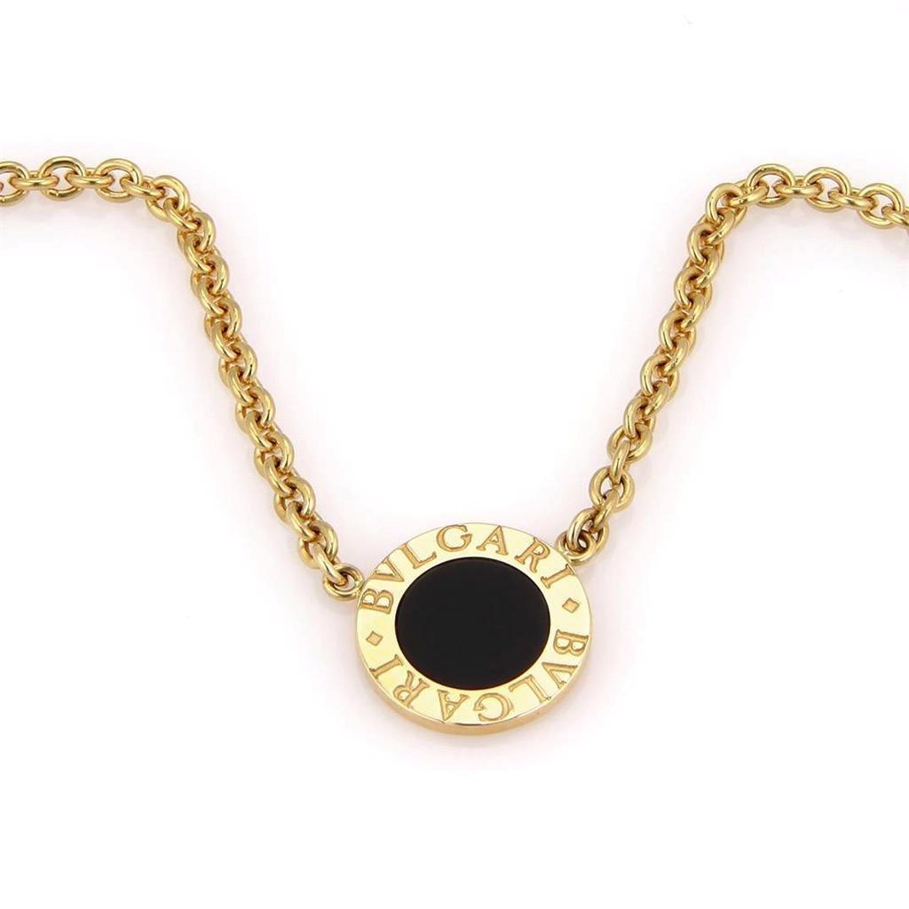 Bvlgari Bulgari 18K Yellow Gold Circular Onyx Pendant