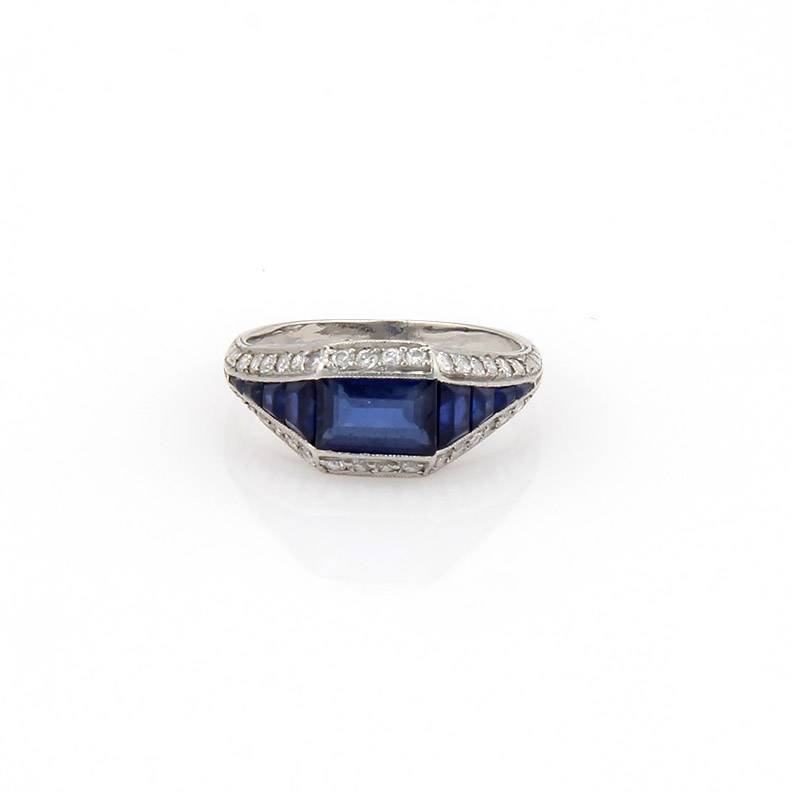 Cartier Antique Platinum Art Deco Diamond & Baguette