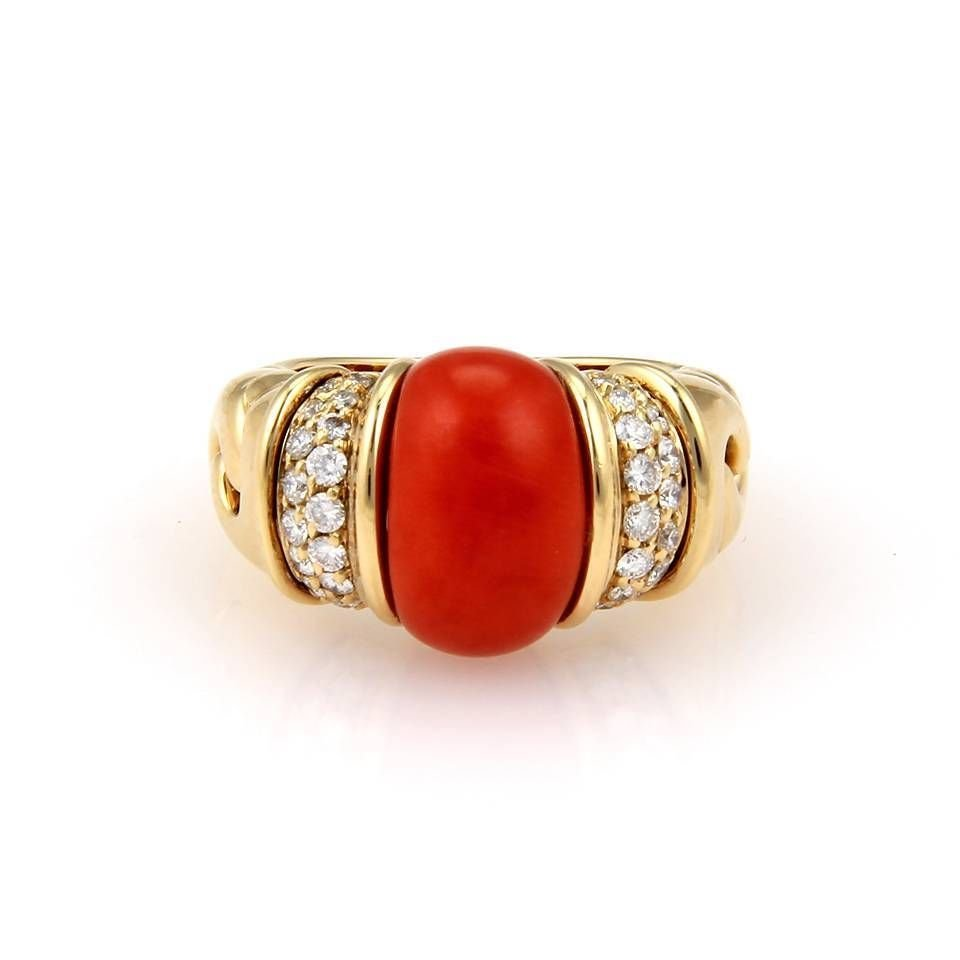Bvlgari Bulgari 18K Yellow Gold Coral & Diamond