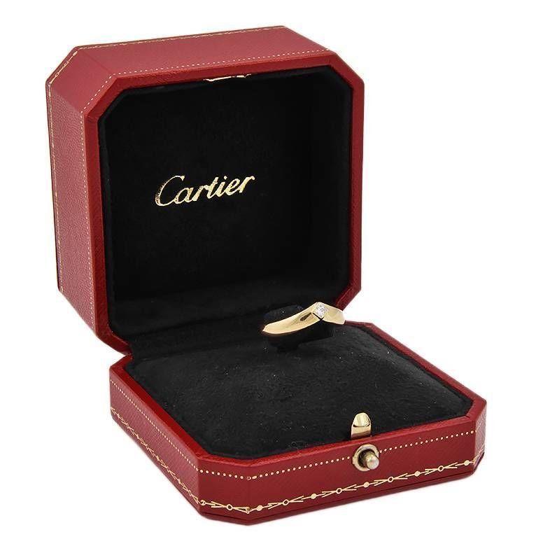 Cartier 18K Yellow Gold Princess Cut Diamond Band Ring