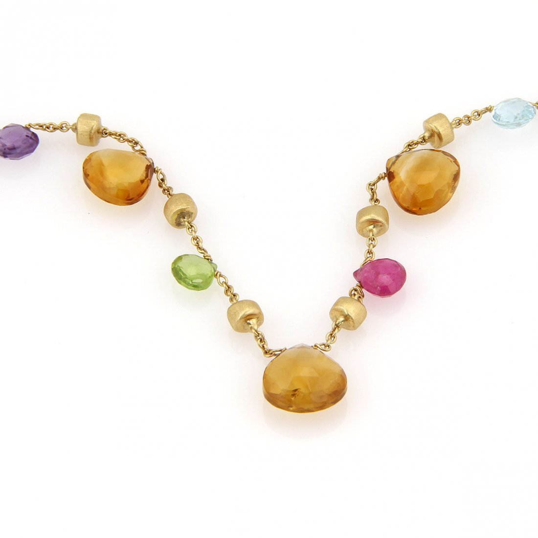 Marco Bicego 18K Yellow Gold Multi Color Gemstone