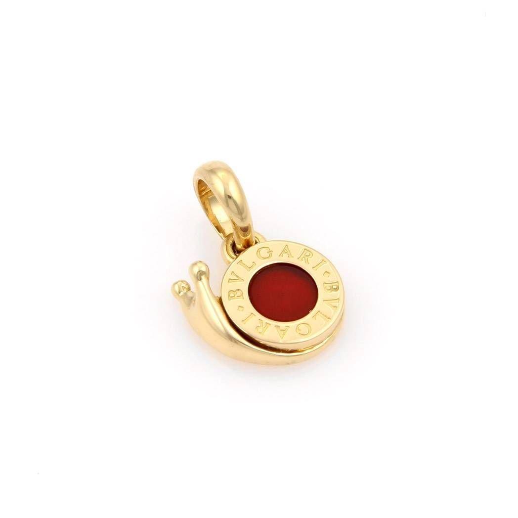 Bvlgari Bulgari 18K Yellow Gold Carnelian Snail Pendant