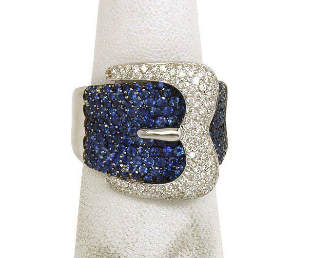 18K GOLD, SPARKLING DIAMONDS & VIBRANT BLUE SAPPHIRES