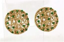 Tiffany  Co 14k YGold Diamond  Jade Open Lattice