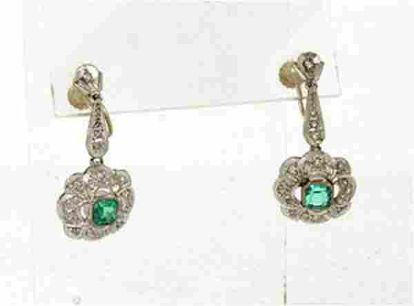 Estate Vintage 18kt White Gold 1.86ctw Diamond &