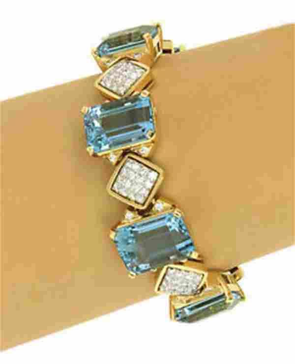 OPULENT 18K YELLOW GOLD, 4.3 CTS DIAMONDS & 79 CTS
