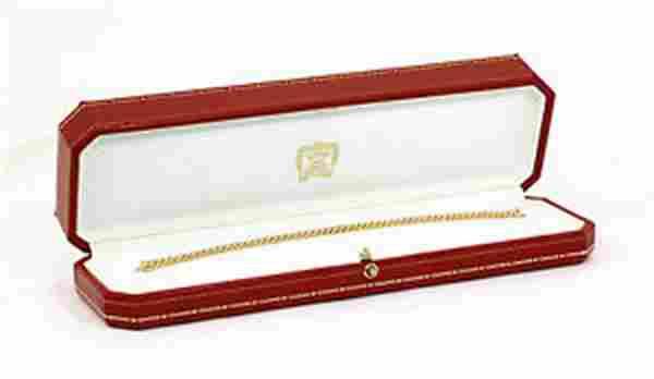 CARTIER FRANCE 18K & 3.02 CTS DIAMONDS TENNIS BRACELET