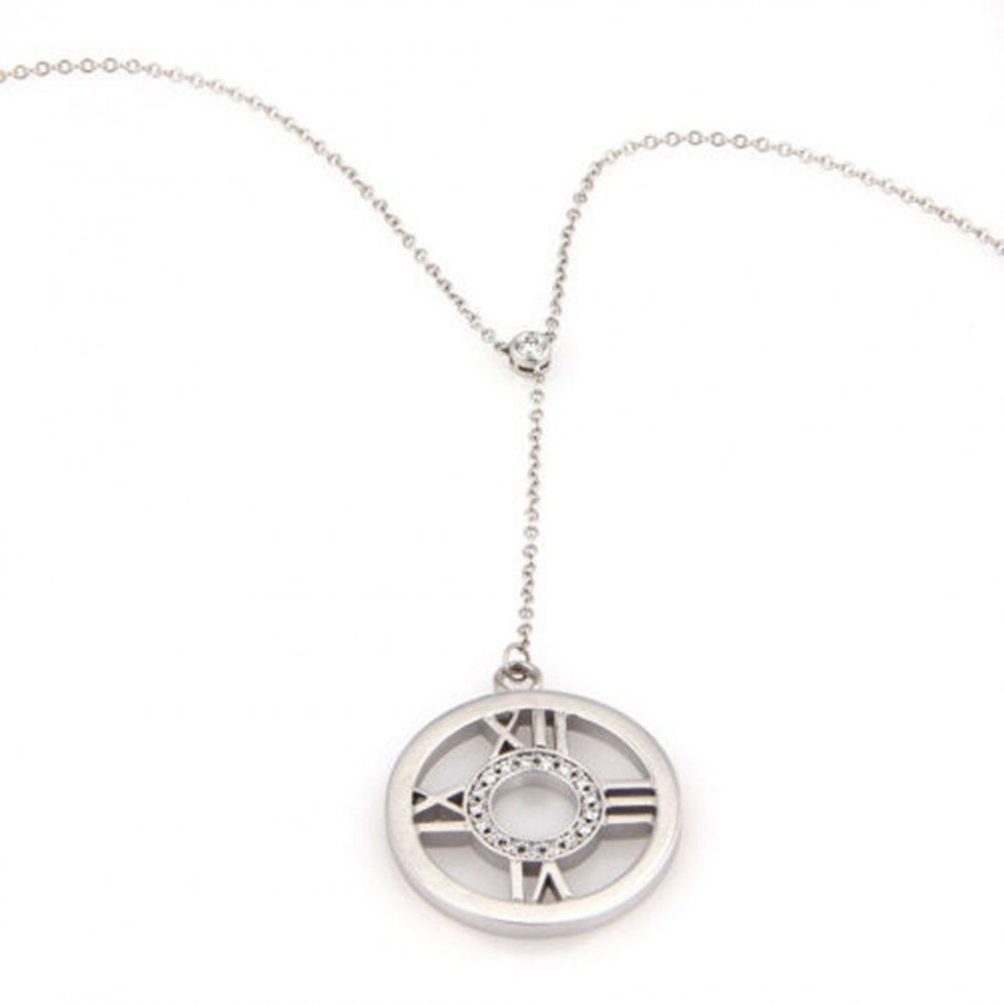 Tiffany & Co. 18K White Gold Diamond Circle ATLAS