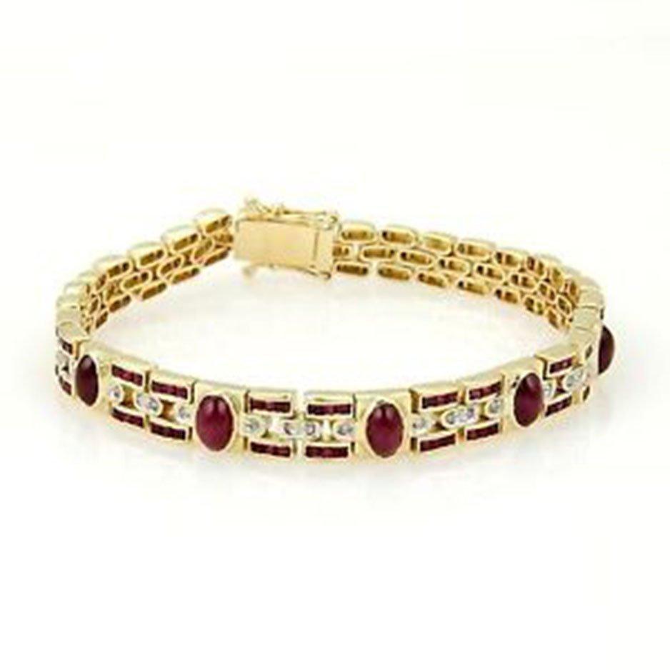 Estate 18k Yellow Gold 4.68ctw Rubies & Diamonds