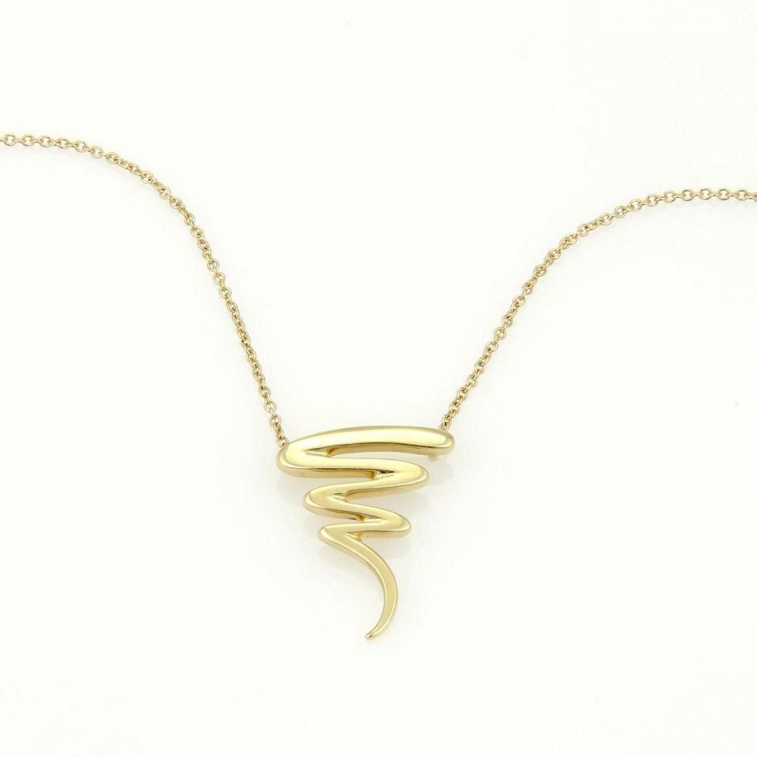 Tiffany & Co. Paloma Picasso 18k Yellow Gold Zig Zag