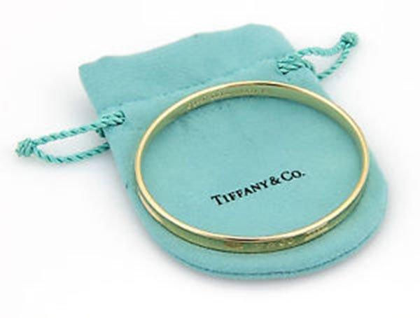 Tiffany & Co. 18K Yellow Gold 1837 Designer Bangle