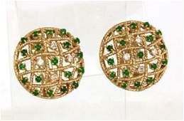Vintage Tiffany  Co 14k YGold Diamond  Jade Open