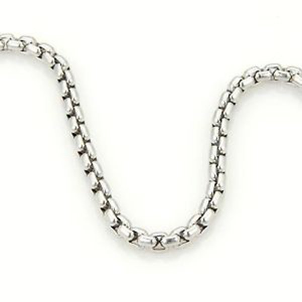Tiffany & Co 18k White Gold Box Belcher Chain Link