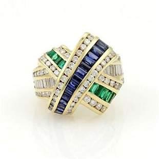 Charles Krypell 18k YGold 5.55tcw Diamonds Rubies &