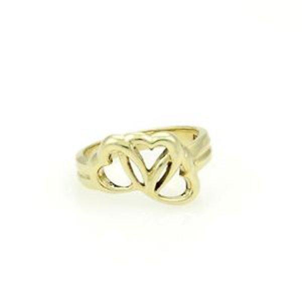 Tiffany & Co. 18k Yellow Gold Three Interlocking Hearts