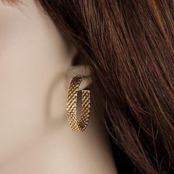 18K Yellow Gold Tiffany & Co. Somerset Hoop Earrings