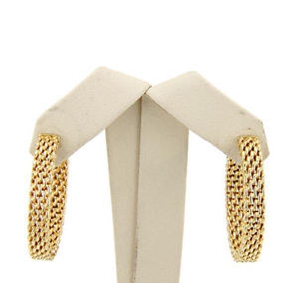 18K Yellow Gold Tiffany & Co. Somerset Hoop Earrings - 2