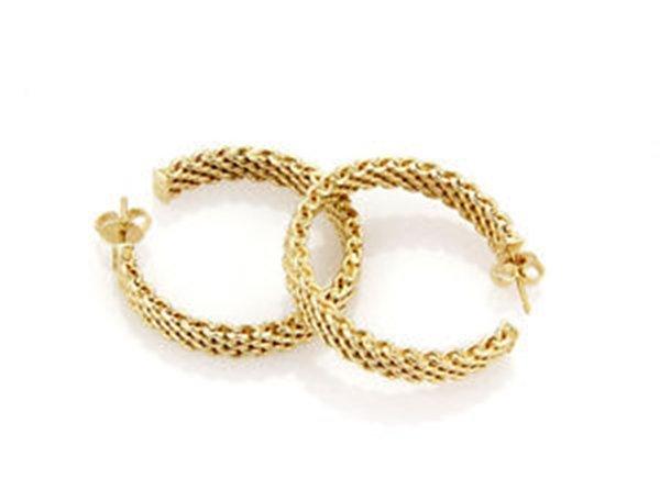 18K Yellow Gold Tiffany & Co. Somerset Hoop Earrings - 3
