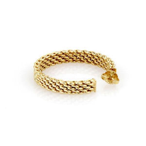 18K Yellow Gold Tiffany & Co. Somerset Hoop Earrings - 4