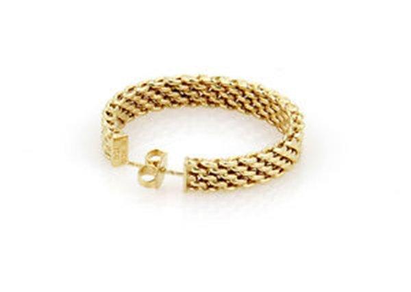 18K Yellow Gold Tiffany & Co. Somerset Hoop Earrings - 5