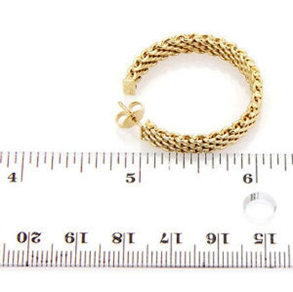 18K Yellow Gold Tiffany & Co. Somerset Hoop Earrings - 6