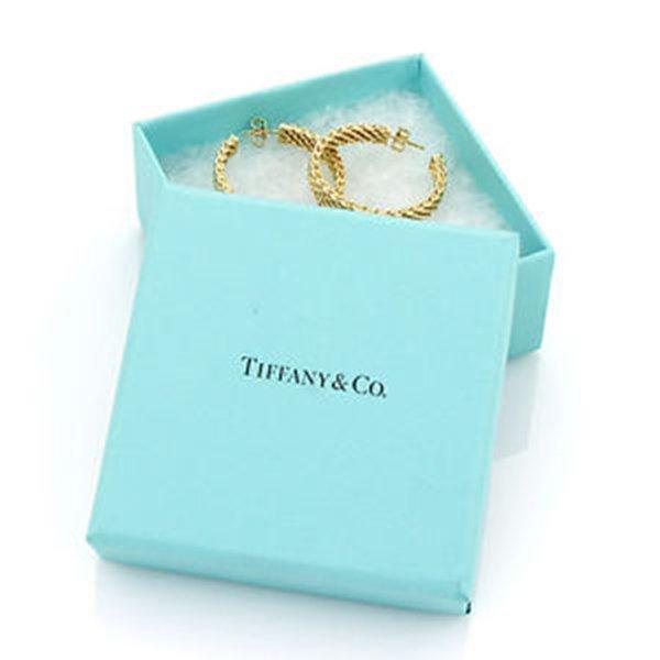 18K Yellow Gold Tiffany & Co. Somerset Hoop Earrings - 7