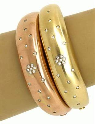 Magnificent 14kt Rose & Yellow Gold 1ctw Diamonds Set
