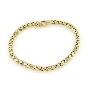 Tiffany & Co 18k Yellow Gold Russian Weave Bracelet