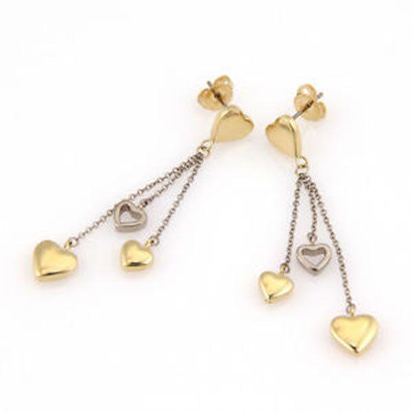 Tiffany & Co. 18K Yellow & White Gold Heart Dangle