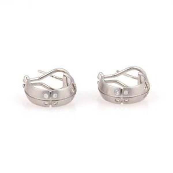 Tiffany & Co. 18K White Gold Streamerica Diamond Hoop