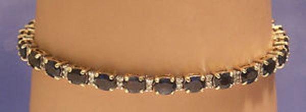 Vintage 14k Yellow  Gold 9.40ct Diamond & Sapphire