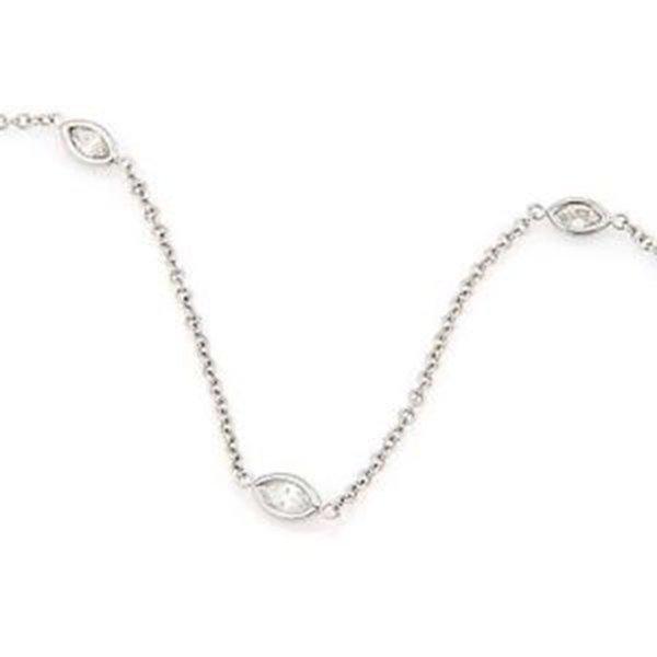 Brand New 14K White Gold 1.40ctw Marquise Cut Diamonds