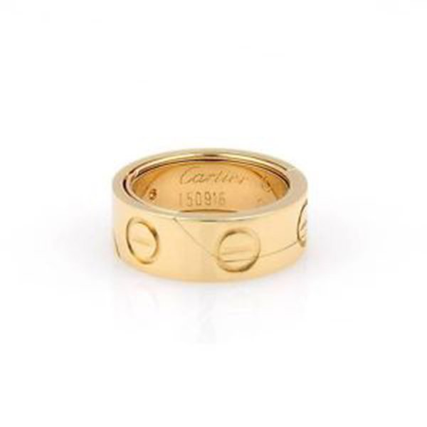 Cartier 18K Yellow Gold Astro Secret Love Ring - Size