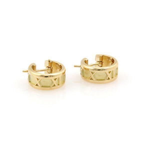 Tiffany & Co. Italy 18K Yellow Gold Atlas Hoop Earrings