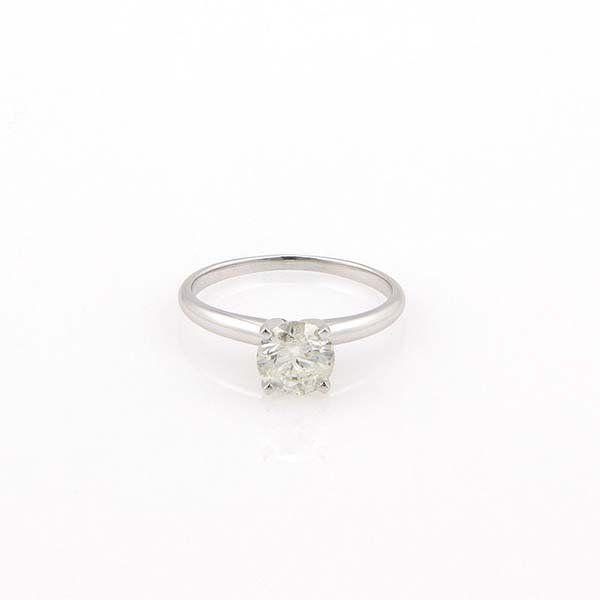 New 14K White Gold 1ct Round Diamond Solitaire Ring