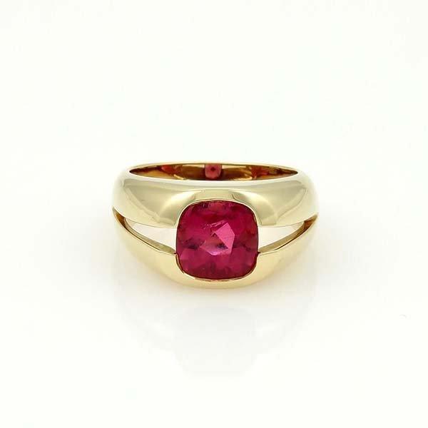 Tiffany & Co. 18k Yellow Gold & 2ct Pink Tourmaline