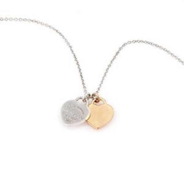 Tiffany & Co. Sterling Silver and 18K Rose Gold Double
