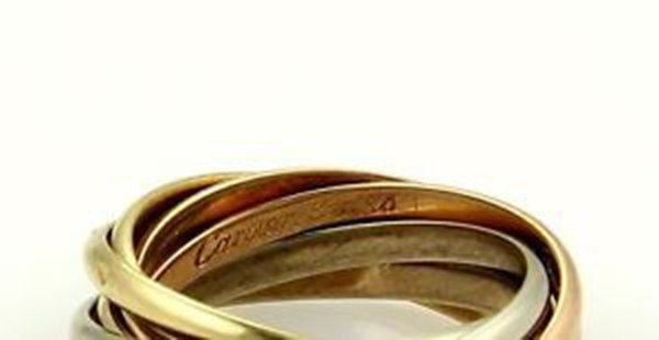 Cartier 18k Tri-Color Gold Trinity Rolling 7 Bands Ring - 4