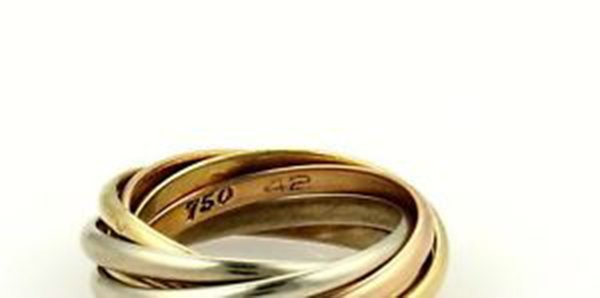 Cartier 18k Tri-Color Gold Trinity Rolling 7 Bands Ring - 5