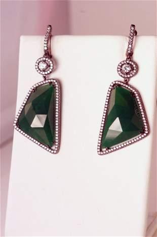 Lovely designer jade earrings.