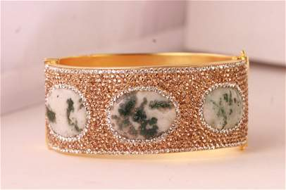 Beautiful designer multi gem bangle bracelet.