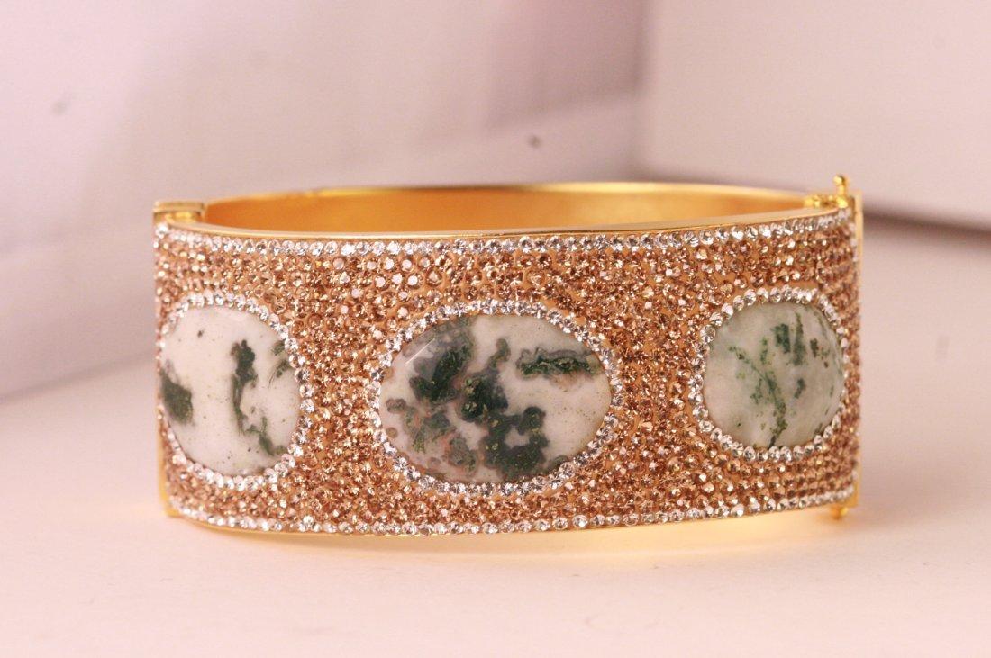 Beautiful designer multi gem bangle bracelet.