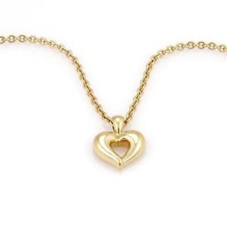 VCA Van Cleef & Arpels 18K Yellow Gold Heart Pendant