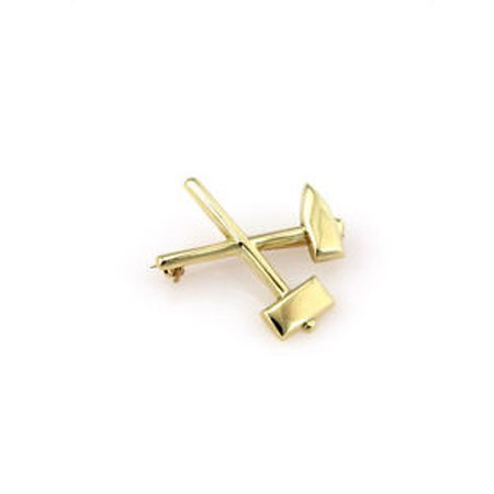 Tiffany & Co. Makers 14K Yellow Gold Hammer & Axe